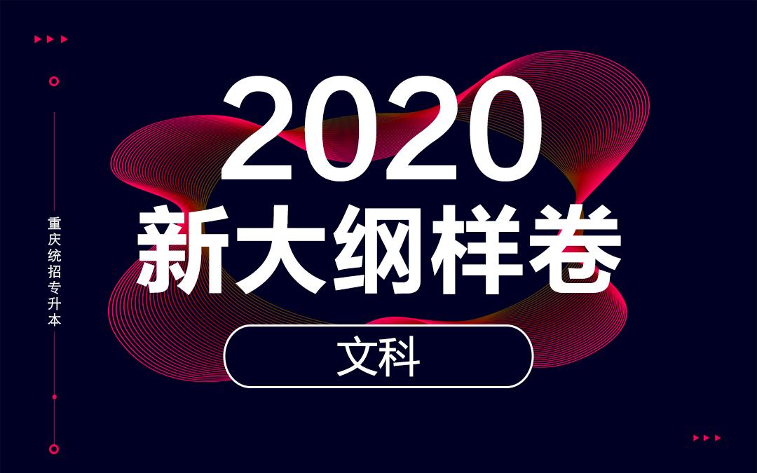 2020重庆统招专升本新大纲样卷(文科)