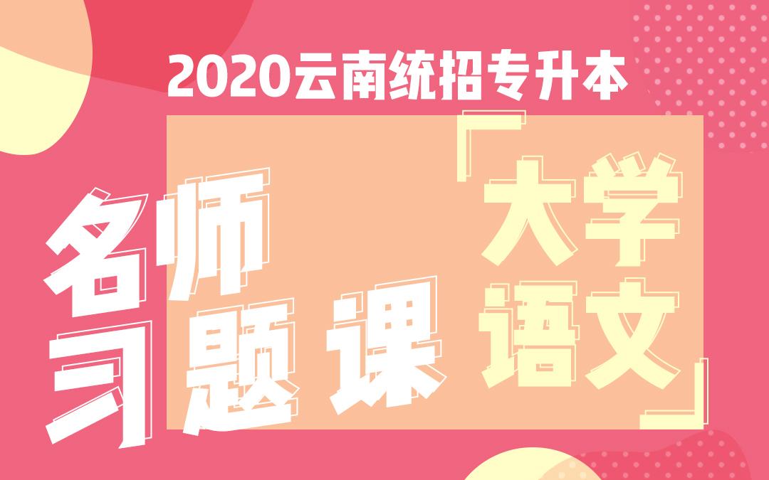 2020云南统招专升本名师习题课《大学语文》必做题