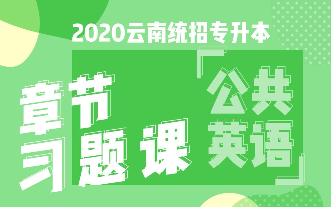 2020云南统招专升本章节习题课《公共英语》