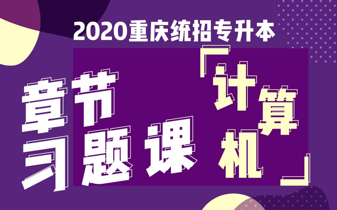 2020重庆统招专升本章节习题课《计算机》