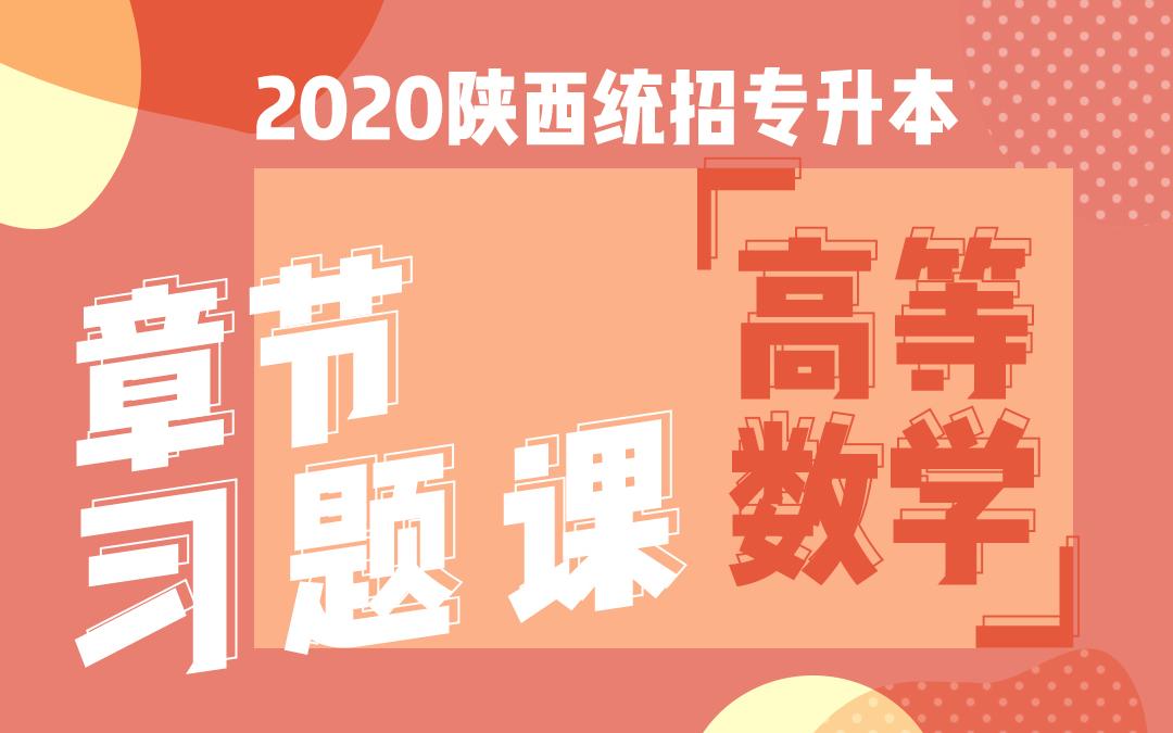 2020陕西统招专升本章节习题课《高等数学》