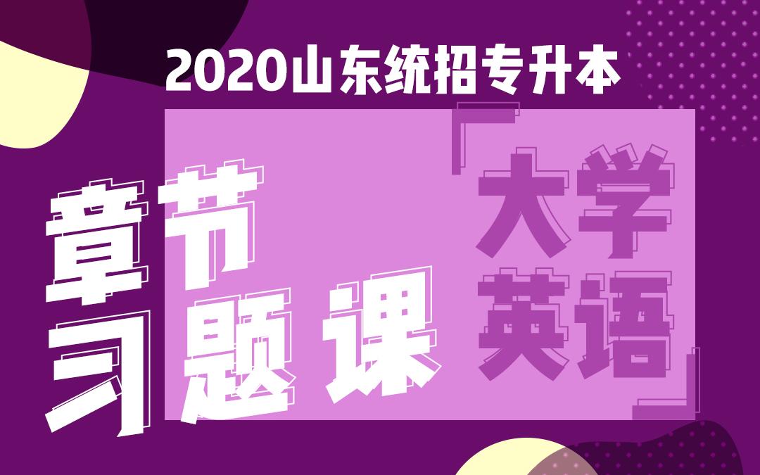 2020山东统招专升本章节习题课《大学英语》