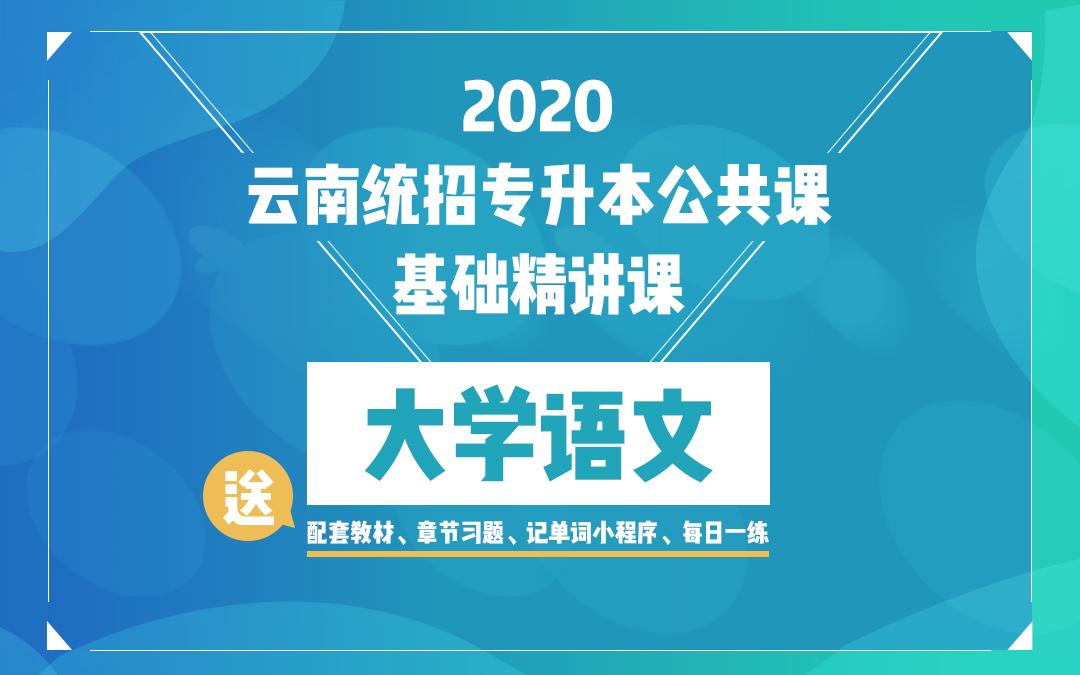 2020云南统招专升本基础精讲课《大学语文》