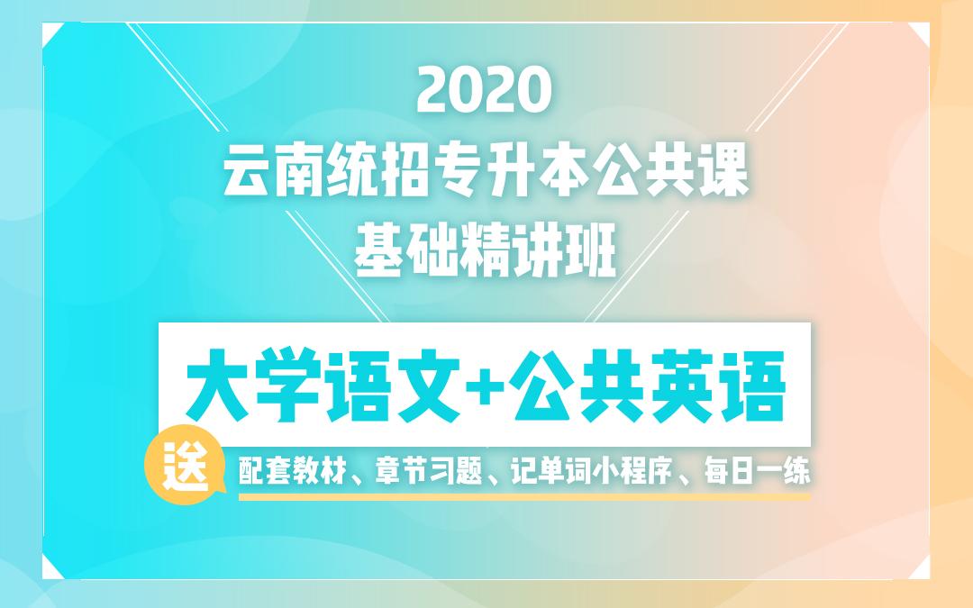 2020云南统招专升本基础精讲班《大学语文》《公共英语》