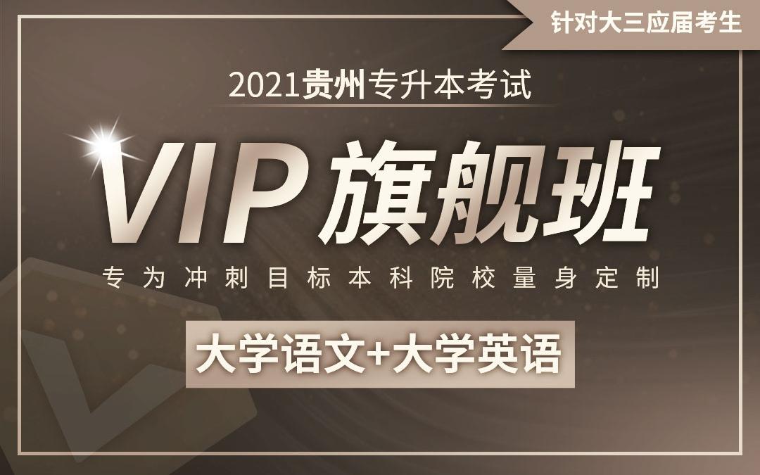 【应届班】2021贵州专升本VIP旗舰班(大学语文、大学英语)