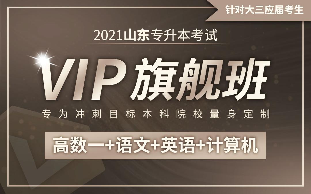 【应届班】2021山东专升本VIP旗舰班(高数一、语文、英语、计算机)