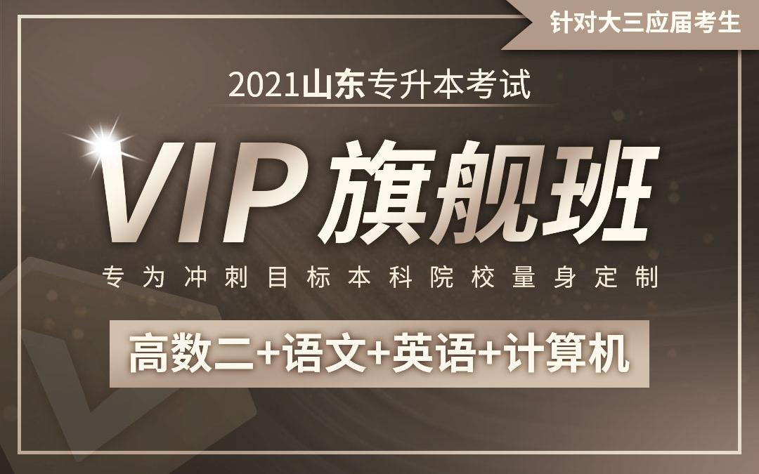 【应届班】2021山东专升本VIP旗舰班(高数二、语文、英语、计算机)