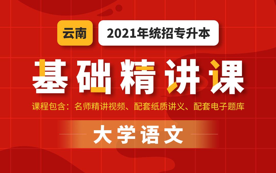2021云南统招专升本基础精讲课(大学语文)