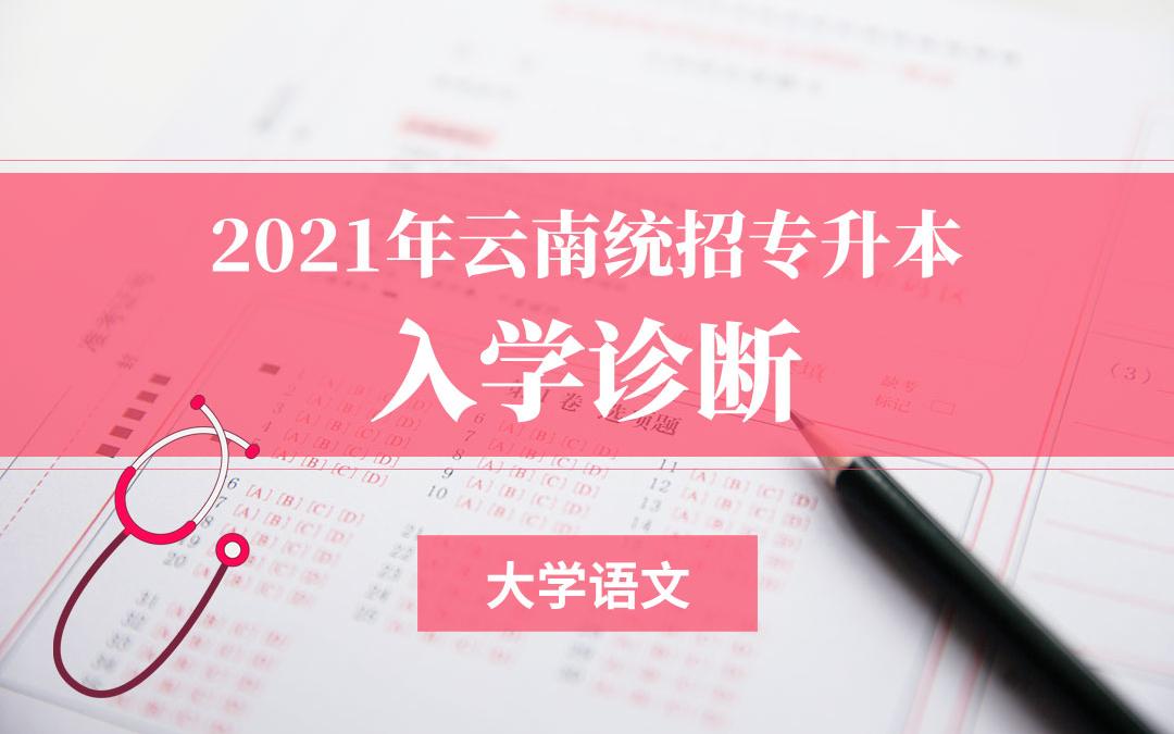 2021云南专升本入学诊断(大学语文)