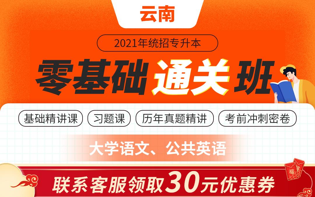 2021云南专升本零基础通关班(大学语文、公共英语)