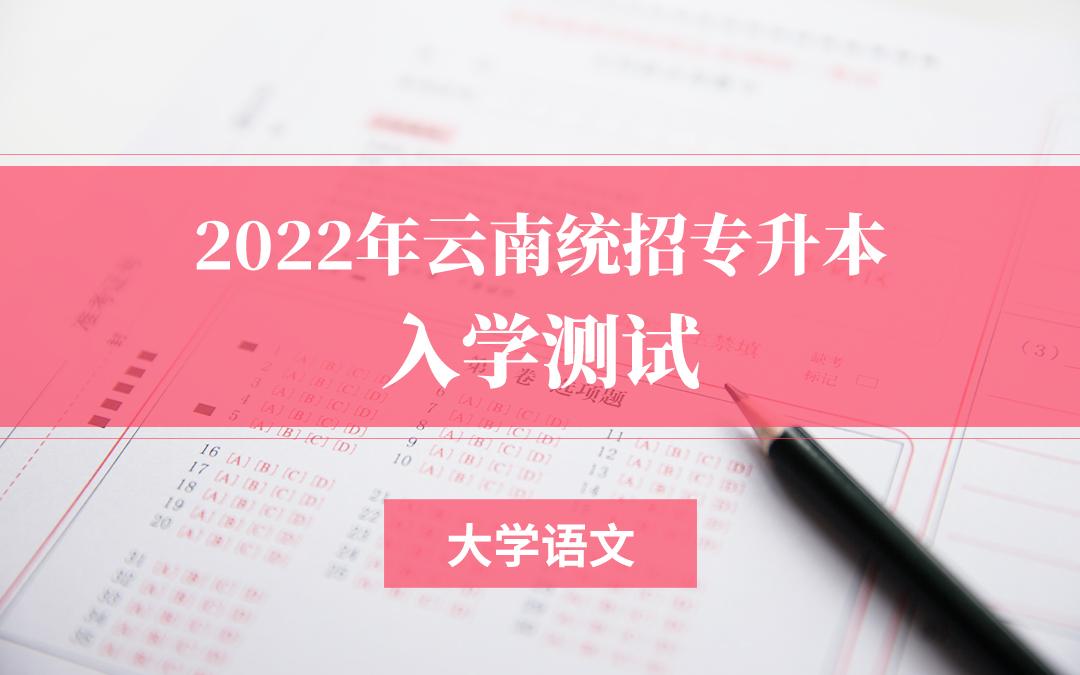 2022云南专升本入学测试(大学语文)